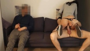 Fucking hard accompanied by european brunette