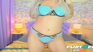 Erotic tight blonde haired flirt