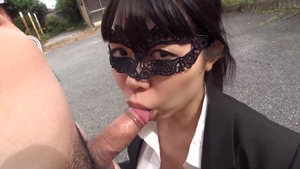 Hairy brunette POV playing with sex toys outdoors