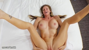 Stunning blonde POV cum on face
