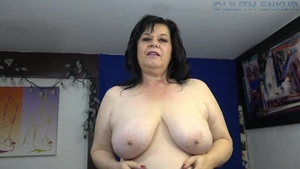 Huge boobs female stroking solo