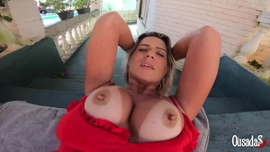 Sweet big boobs amateur POV humping outdoors