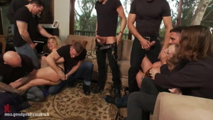 Rough gangbang along with big butt stepmom Andrea Acosta in HD
