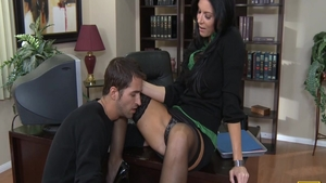 Super sexy India Summer raw cumshot in office