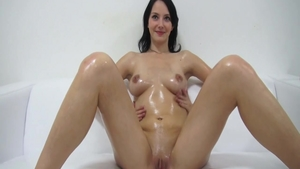 Sweet czech brunette really likes oil hardcore sex HD