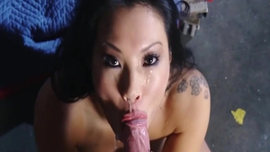 Blowjob in the company of very sexy couple