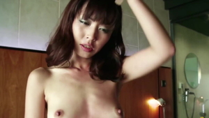 Small tits asian amateur fingering in club in HD