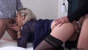 MILF Julie Holly likes orgy in sexy stockings HD