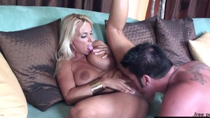 Hard sex together with large boobs stepmom Holly Halston