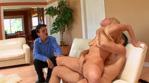 Blonde haired really enjoys dick sucking HD
