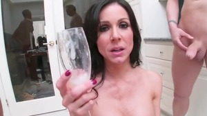 Large boobs and lustful Kendra Lust cock sucking