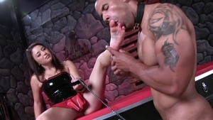 Slamming hard in company with mistress