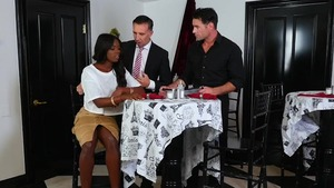 Slamming hard starring hot ebony supermodel Ana Foxx
