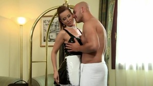 Loud sex together with erotic maid Cindy Dollar