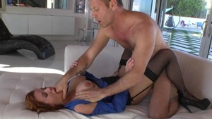 Pornstar Veronica Avluv having fun with John Strong