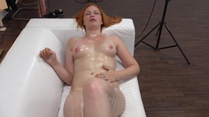 Huge boobs and very sexy redhead rough stroking