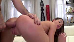 Teen chick Sybil A threesome at the castings