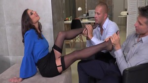 Alina Henessy in sexy stockings fetish fucked in the ass