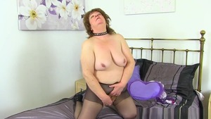 Fetish masturbating starring granny