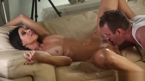 Cunnilingus starring small tits Arab brunette India Summer